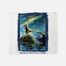 Unique Loch ness monster Throw Blanket