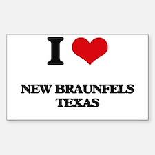I love New Braunfels Texas Decal