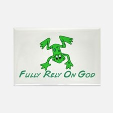Green Cute Frog Rectangle Magnet