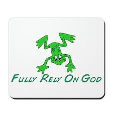 Green Cute Frog Mousepad