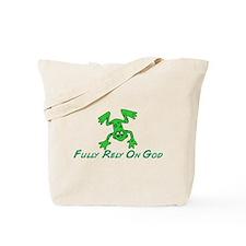 Green Cute Frog Tote Bag