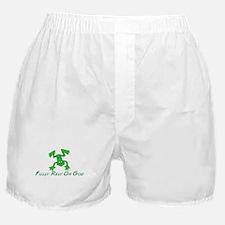 Green Cute Frog Boxer Shorts