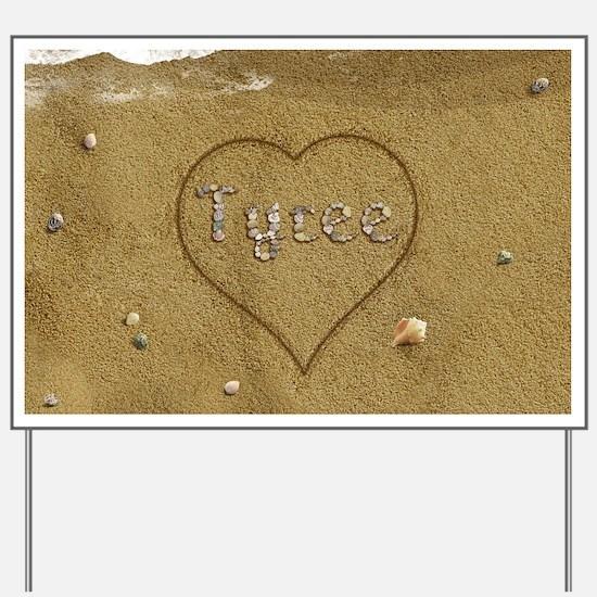 Tyree Beach Love Yard Sign