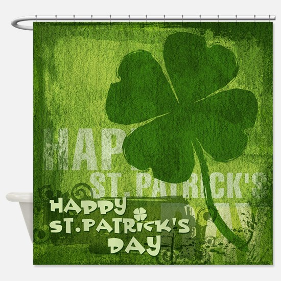 Painted Clover Shower Curtain