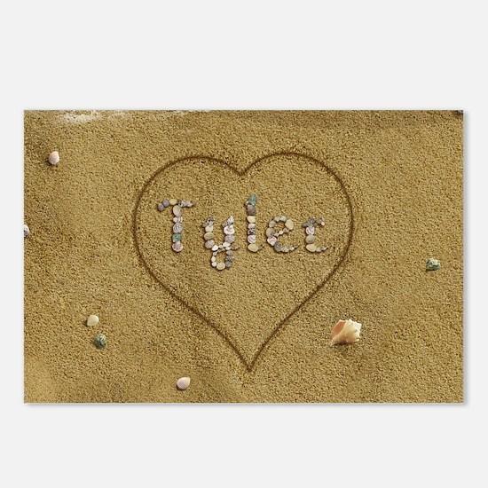 Tyler Beach Love Postcards (Package of 8)