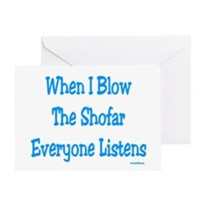 Jewish New Year Blow Shofar Greeting Card