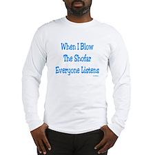 Jewish New Year Blow the Shofar Long Sleeve T-Shir