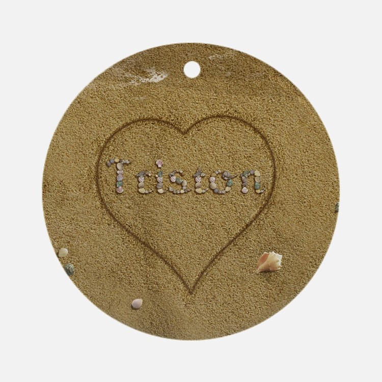 Triston Beach Love Ornament (Round)