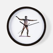 Naked Zeus Statue Wall Clock