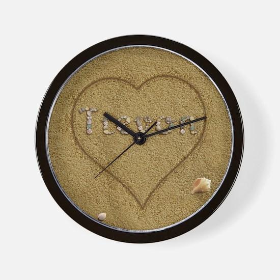 Trevon Beach Love Wall Clock