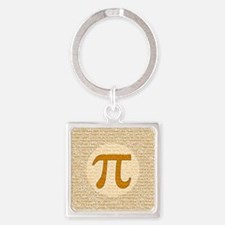Pi Day Square Keychain