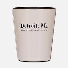 Detroit, MI Shot Glass