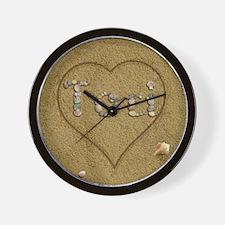 Tori Beach Love Wall Clock