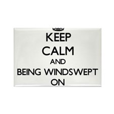 Keep Calm and Being Windswept ON Magnets