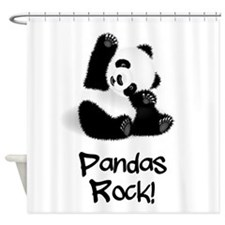 Baby Panda Shower Curtain
