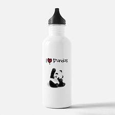 I Heart Pandas Water Bottle