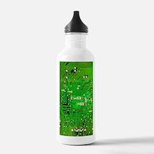 Circuit Board - Green Water Bottle