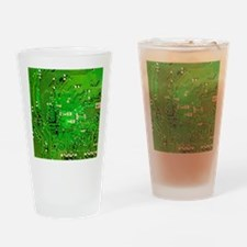 Circuit Board - Green Drinking Glass