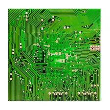 Circuit Board - Green Tile Coaster