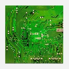 Circuit Board - Green Tile Coaster