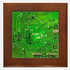 Circuit Board - Green Framed Tile