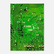 Circuit Board - Green 5'x7'Area Rug