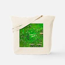 Circuit Board - Green Tote Bag