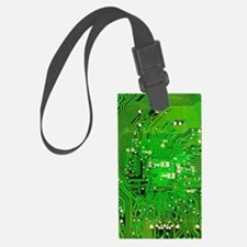 Circuit Board - Green Luggage Tag