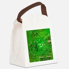 Circuit Board - Green Canvas Lunch Bag