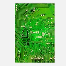 Circuit Board - Green Postcards (Package of 8)