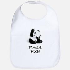 Panda's Rock! Bib