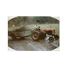 Vintage tractor Rectangle Magnet