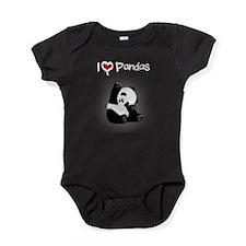 I Heart Pandas Baby Bodysuit