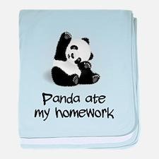 Panda Ate My Homework baby blanket