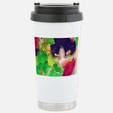 Cat and Roses Stainless Steel Travel Mug