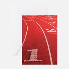 Track lanes Greeting Card