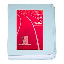 Track lanes baby blanket