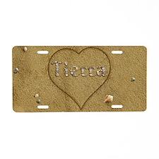 Tierra Beach Love Aluminum License Plate