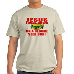 Jesus Loves Animals Light T-Shirt