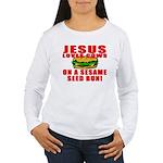 Jesus Loves Animals Women's Long Sleeve T-Shirt