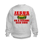 Jesus Loves Animals Kids Sweatshirt