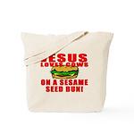 Jesus Loves Animals Tote Bag