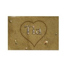 Tia Beach Love Rectangle Magnet