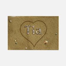 Tia Beach Love Rectangle Magnet