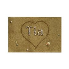 Tia Beach Love Rectangle Magnet (10 pack)