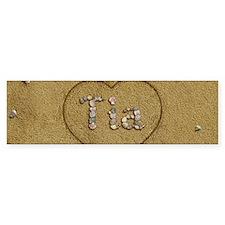 Tia Beach Love Bumper Sticker
