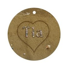 Tia Beach Love Ornament (Round)