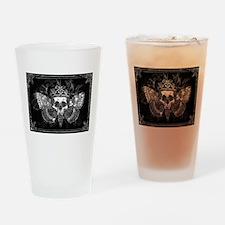 vintage mothman skull Drinking Glass