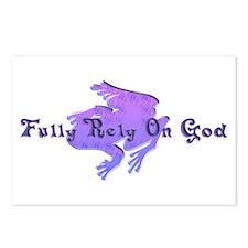 Purple Fancy Frog Postcards (Package of 8)