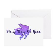 Purple Fancy Frog Greeting Card